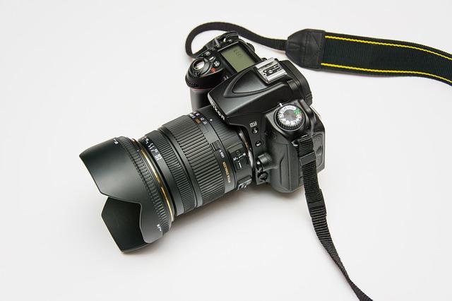 černý fotoaparát