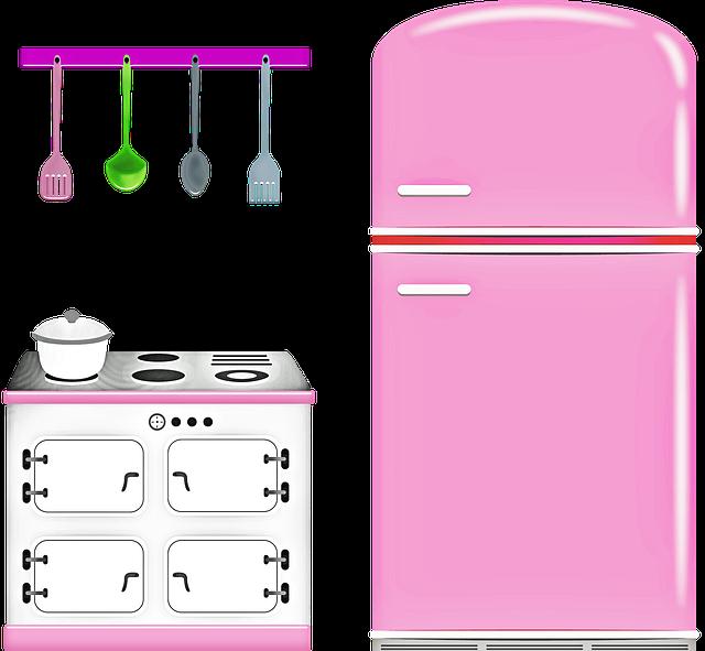 růžová kuchyně