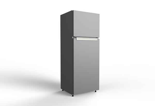 šedá lednice